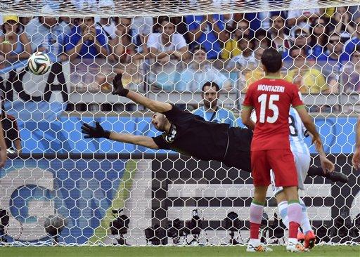 APTOPIX Brazil Soccer WCup Argentina Iran